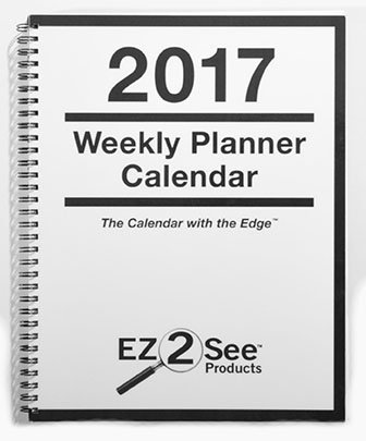 The cover of the 2017 EZ 2 See weekly calendar