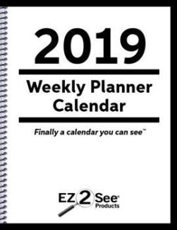 EZ2See calendar cover for 2019