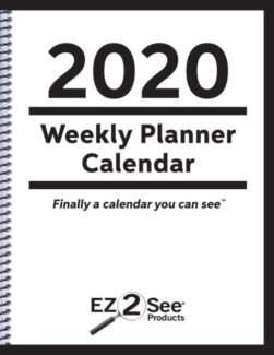 Cover for 2020 EZ2See Calendar