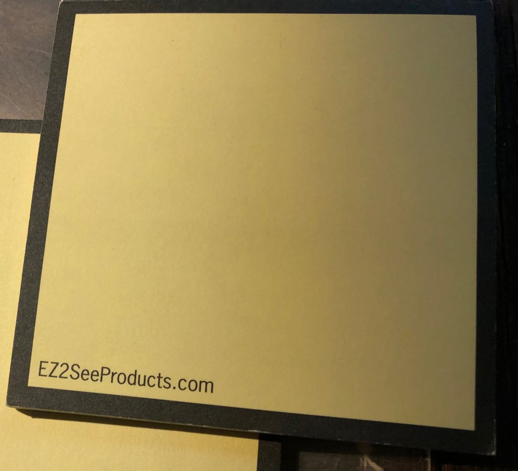 A view of the EZ2See Products Sticky Notes