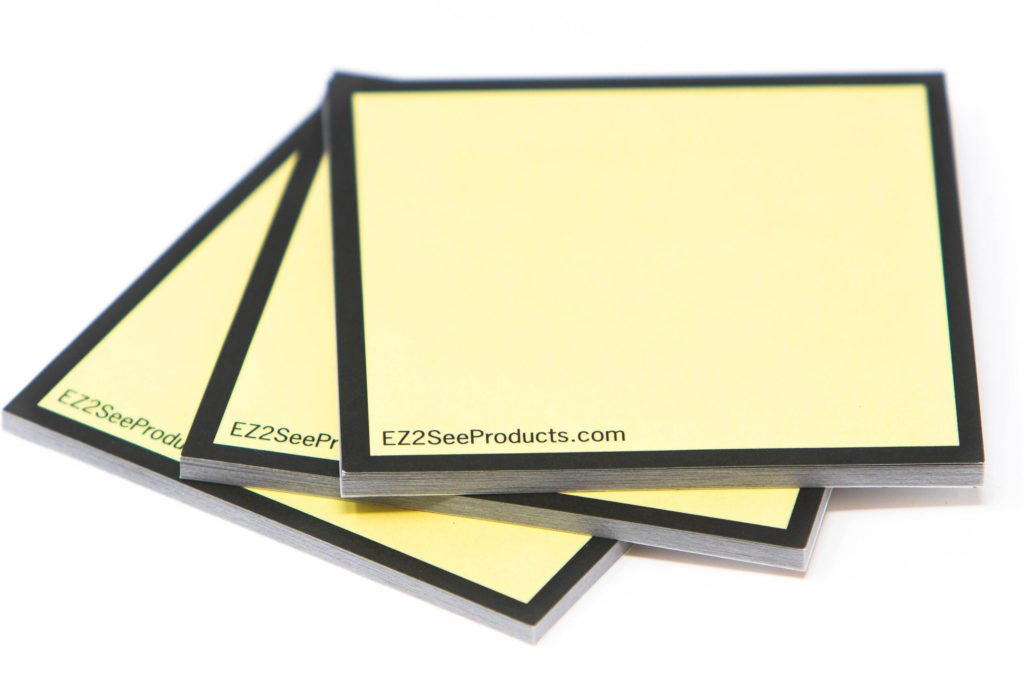 The EZ2See® Sticky Note pads